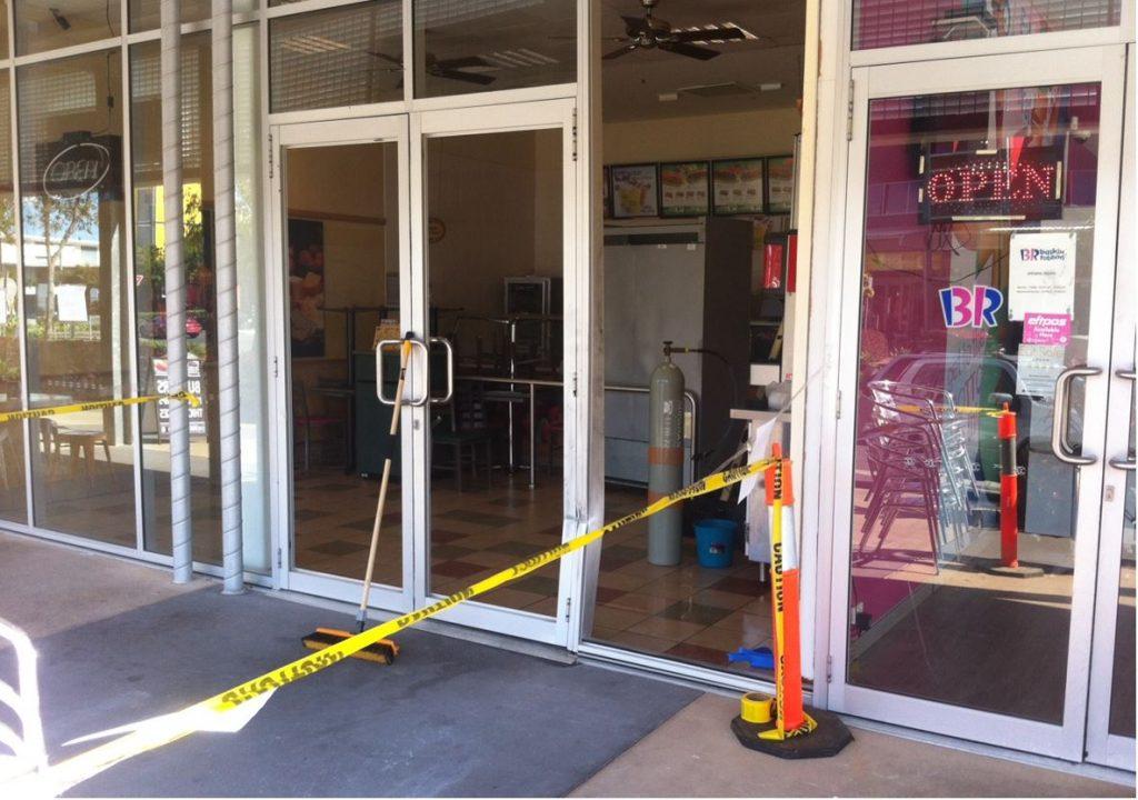 Subway Sandwich emergency shop front repair